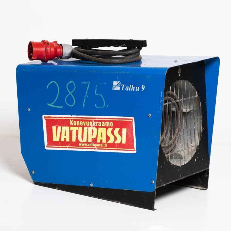 Sähkökäyttöinen lämpöpuhallin < 9kw, 400v