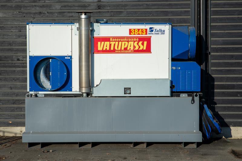 Polttoöljykäyttöinen lämpöpuhallin säiliöllä < 200kw, 400v